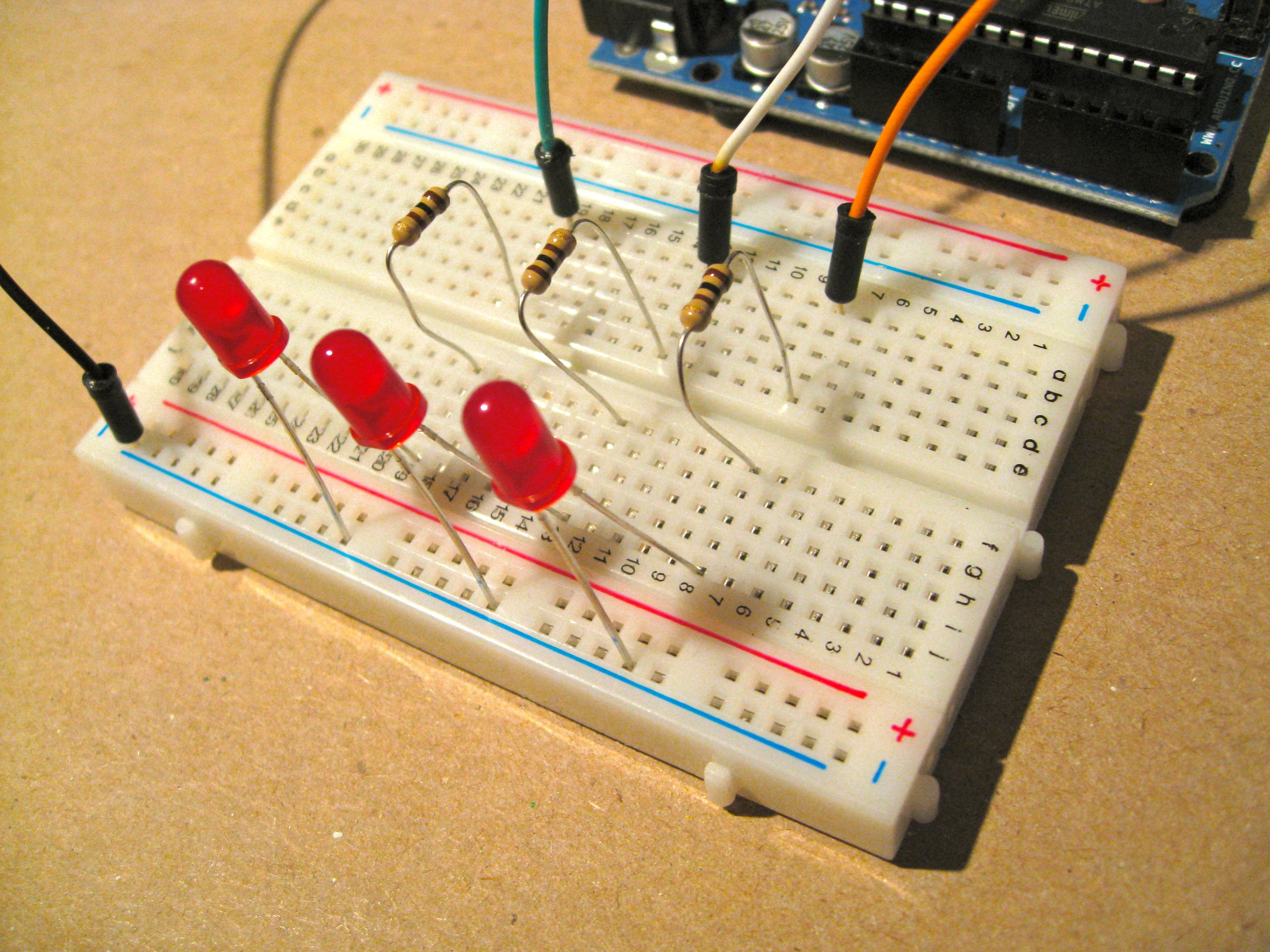 Binary counter using arduino